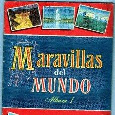 Coleccionismo Álbum: ÁLBUM COMPLETO MARAVILLAS DEL MUNDO I. Lote 12228036