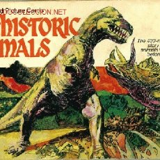 Coleccionismo Álbum: ANIMALES PREHISTÓRICOS, DINOSAURIOS. PREHISTORIC ANIMALS. ALBUM INGLES AÑOS 70. Lote 20765067