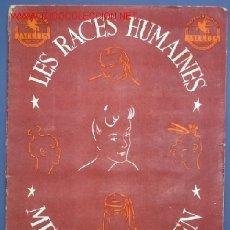 Coleccionismo Álbum: ÁLBUM COMPLETO LES RACES HUMAINES. CHOCOLATES JACQUES, BELGICA, 1950'S.. Lote 21045973