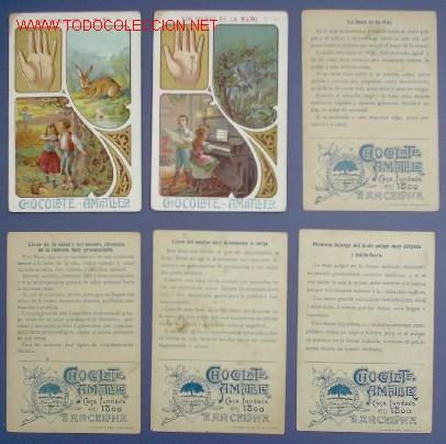 Coleccionismo Álbum: LOS SIGNOS DE LA MANO. COLECCION COMPLETA DE 20 CROMOS. CHOCOLATE AMATLLER. PRINCIPIOS DEL SIGLO XX. - Foto 4 - 23751301