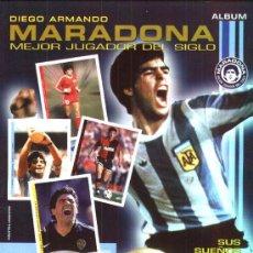 Coleccionismo Álbum: ALBUM CROMOS MARADONA - NUEVO - COMPLETO - CON SUS 180 CROMOS A PEGAR - JOYA DE COLECCION. Lote 22780212