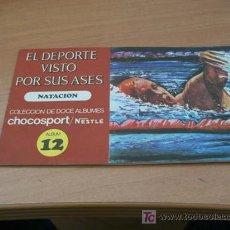 Coleccionismo Álbum: EL DEPORTE VISTO POR SUS ASES. NESTLE ( NATACION ) COMPLETO. Lote 13808009