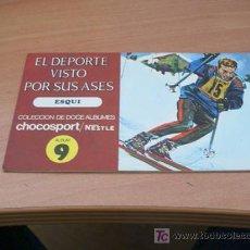 Coleccionismo Álbum: EL DEPORTE VISTO POR SUS ASES. NESTLE ( ESQUI ) COMPLETO. Lote 13808011