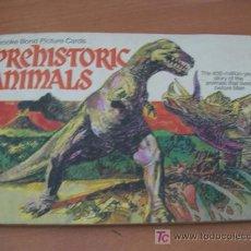 Coleccionismo Álbum: ALBUM COMPLETO 50 CROMOS DINOSAURIOS ( PREHISTORIC ANIMALS ) . Lote 13631474