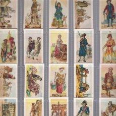 Coleccionismo Álbum: PRECIOSA SERIE COMPLETA DE CROMOS ANTIGUOS DE PROPAGANDA DE TABACO OFICIOS A LO LARGO DEL TIEMPO. Lote 33286831