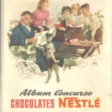 Coleccionismo Álbum: ALBUM CONCURSO CHOCOLATES NESTLE CROMOS COMPLETO. Lote 14776286