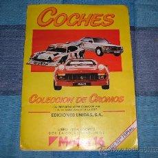 Coleccionismo Álbum: ALBUM COCHES MOTOR 16.EDICIONES UNIDAS SA. +COMPLETO+. Lote 24235477