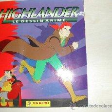 Coleccionismo Álbum: PANINI HIGHLANDER DIBUJOS ANIMADOS COMPLETO INCLUYE EL POSTER CENTRAL CON TODOS LOS CROMOS. Lote 27412624