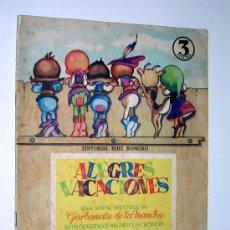 Coleccionismo Álbum: ALBUM GARBANCITO DE LA MANCHA ALEGRES VACACIONES, 240 CROMOS COMPLETO, BALET Y BLAY. BARCELONA.. Lote 26423792