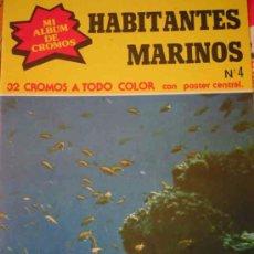 Coleccionismo Álbum: HABITANTES MARINOS Nº4 - COMPLETO, NUEVO CON LOS CROMOS SIN RECORTAR NI PEGAR. Lote 12112300
