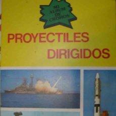 Coleccionismo Álbum: PROYECTILES DIRIGIDOS - COMPLETO, NUEVO CON LOS CROMOS SIN RECORTAR NI PEGAR. Lote 12108345