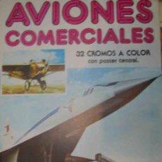 Coleccionismo Álbum: AVIONES COMERCIALES - COMPLETO, NUEVO CON LOS CROMOS SIN RECORTAR NI PEGAR. Lote 12108377