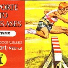 Coleccionismo Álbum: ALBUM COMPLETO EL DEPORTE VISTO POR SUS ASES Nº1 ATLETISMO. Lote 12182568