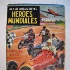 Coleccionismo Álbum: HEROES MUNDIALES - CLIPER - ALBUM CROMOS COMPLETO. Lote 15233375