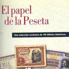Coleccionismo Álbum: EL PAPEL DE LA PESETA. UNA SELECCIÓN EXCLUSIVA DE 40 BILLETES HISTÓRICOS. . Lote 26992183