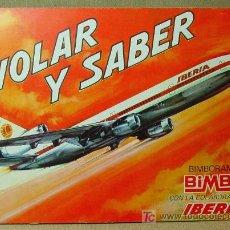 Coleccionismo Álbum: PREMIUM BIMBO, IBERIA, ALBUM DE CROMOS, VOLAR Y SABER, COMPLETO, 1974, CON TRANSFERS, UNICO !!!. Lote 15986990