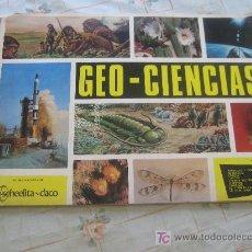 Coleccionismo Álbum: GEO CIENCIAS SCHEELITA DACO AÑO 1967 COMPLETO 343 CROMOS CAJA 20. Lote 27554365