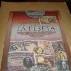 Collezionismo Álbum: INTERESANTE ALBUM COMPLETO HISTORIA DE LA PESETA. Lote 23706272