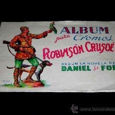 Coleccionismo Álbum: ALBUM CROMOS ROBINSÓN CRUSOÉ, SEGÚN DANIEL DE FOË, ED. AGUILAR, VALENCIA, AÑOS 40. COMPLETO. . Lote 26553680