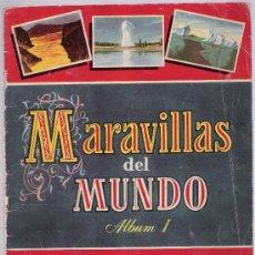 Coleccionismo Álbum: MARAVILLAS DEL MUNDO ALBUM 1. BRUGUERA 1956. COMPLETO.. Lote 17745368