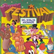 Coleccionismo Álbum: SUPER FESTIVAL DEL DIBUJO ANIMADO - ALBUM EDICIONES ESTE - COMPLETO. Lote 18031391