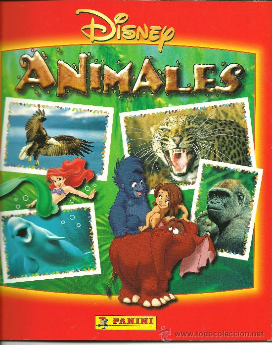 ALBUM DE CROMOS TOTALMENTE COMPLETO ANIMALES DISNEY // TOTALMENTE NUEVO // (Coleccionismo - Cromos y Álbumes - Álbumes Completos)