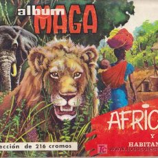 Coleccionismo Álbum: AFRICA Y SUS HABITANTES - ALBUM MAGA - COMPLETO. Lote 18849979