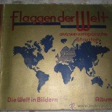 Coleccionismo Álbum: ALBUM DE CROMOS ALEMAN ATLAS Y BANDERAS FLAGGEN EUROPAS Y DER WELT DIE WELT IN BILDERN COMPLETOS. Lote 20385594