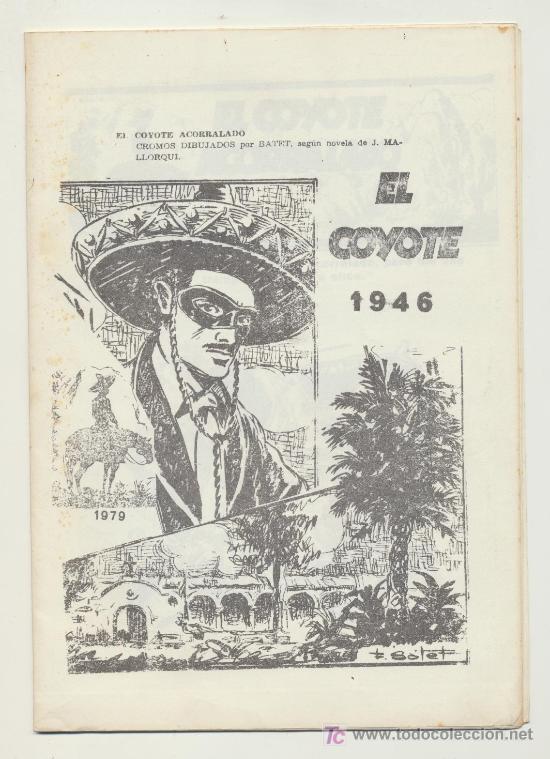 EL COYOTE ACORRALADO. REEDICIÓN FOTOCOPIADA EN BLANCO Y NEGRO. 1979. (Coleccionismo - Cromos y Álbumes - Álbumes Completos)