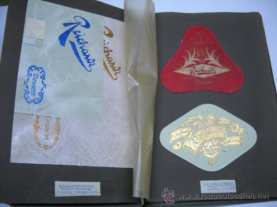 Coleccionismo Álbum: ÁLBUM CON MAS DE 70 PRECIOSAS ETIQUETAS AÑOS 10-20 DE CHOCOLATES DE LA FÁBRICA THEODOR REICHARDT - Foto 6 - 26621013
