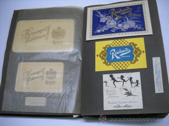 Coleccionismo Álbum: ÁLBUM CON MAS DE 70 PRECIOSAS ETIQUETAS AÑOS 10-20 DE CHOCOLATES DE LA FÁBRICA THEODOR REICHARDT - Foto 7 - 26621013