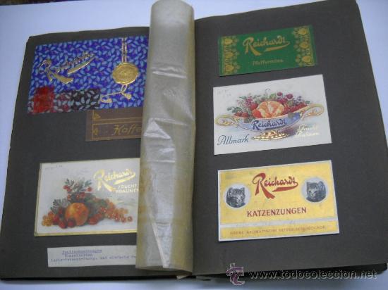 Coleccionismo Álbum: ÁLBUM CON MAS DE 70 PRECIOSAS ETIQUETAS AÑOS 10-20 DE CHOCOLATES DE LA FÁBRICA THEODOR REICHARDT - Foto 8 - 26621013