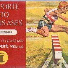 Coleccionismo Álbum: ALBUM VACIO. EL DEPORTE VISTO POR SUS ASES. ATLETISMO. CHOCOSPORT/ NESTLE. Nº 1. . Lote 159797108