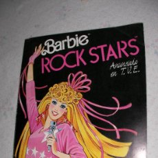 Coleccionismo Álbum: ANTIGUO ALBUM BARBIE ROCK STARS COMPLETO DE PANINI. Lote 22195557