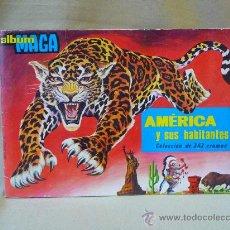 Coleccionismo Álbum: ALBUM, AMERICA Y SUS HABITANTES, COMPLETO, 252 CROMOS, , MAGA. Lote 24176415