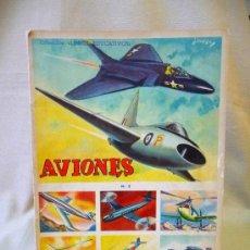 Coleccionismo Álbum: ALBUM, AVIONES Nº 2, COLECCION LIBROS EDUCATIVOS, FHER, COMPLETO. Lote 194661660