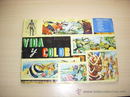 ALBUM DE CROMOS VIDA Y COLOR, COMPLETO, ALBUMES ESPAÑOLES S.A, AÑO 1965 (Coleccionismo - Cromos y Álbumes - Álbumes Completos)