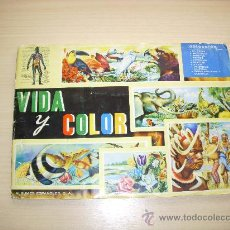 Coleccionismo Álbum: ALBUM DE CROMOS VIDA Y COLOR, COMPLETO, ALBUMES ESPAÑOLES S.A, AÑO 1965. Lote 34611112