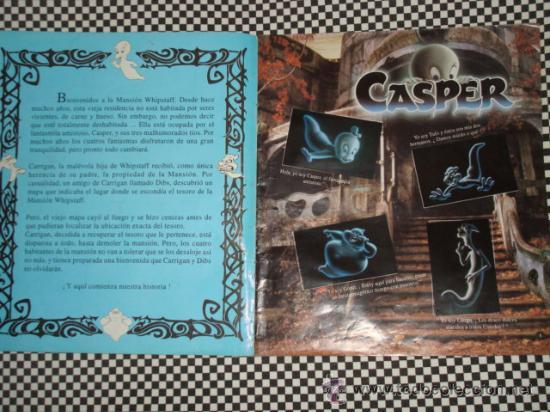 Coleccionismo Álbum: CASPER * ALBUM COMPLETO * 156 STICKER * PANINI * - Foto 2 - 24975474