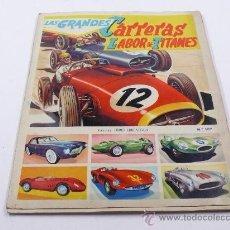 Coleccionismo Álbum: LAS GRANDES CARRERAS, LABOR DE TITANES.LIBRO DE CROMOS FHER. COMPLETO. Lote 25261851