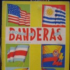 Coleccionismo Álbum: ALBUM BANDERAS COMPLETO SIN PINTAR CROMO FHER VER FOTOS ES EL MISMO. Lote 26090348