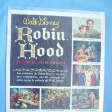 Coleccionismo Álbum: ALBUN DE CROMOS COMPLERO Y NUEVO DE LA PELICULA DE WALT DISNEY ROBON HOOD. Lote 26091627