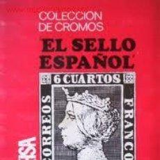 Coleccionismo Álbum: ALBUM CROMOS EL SELLO ESPAÑOL 1967/1971. Lote 26095499
