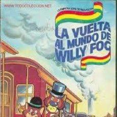 Coleccionismo Álbum: ALBUM DE CROMOS COMPLETO LA VUELTA AL MUNDO WILLY Y FOG.. Lote 26095689