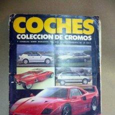 Coleccionismo Álbum: ALBUM, COCHES, MOTOR 16, Y CONSEJOS SOBRE LA EDUCACION VIAL, COMPLETO, COLECCION DE 180 CROMOS. Lote 27953397