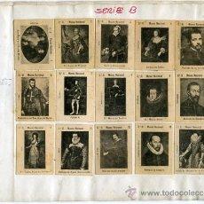 Coleccionismo Álbum: ANTIGUAS FOTOTIPIAS CAJAS DE CERILLAS.- 80 CROMOS-COLECCIÓN COMPLETA SERIE B.- ESTÁN PEGADOS EN 5.... Lote 28111190