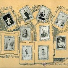 Coleccionismo Álbum: ANTIGUAS FOTOTIPIAS CAJAS DE CERILLAS.- 75 CROMOS-COLECCIÓN COMPLETA SERIE 9ª.- ESTÁN PEGADOS EN 8... Lote 28111350
