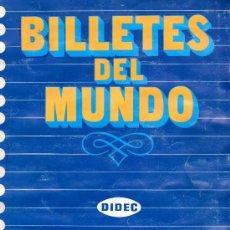 Coleccionismo Álbum: ALBUM COMPLETO BILLETES DEL MUNDO-DIDEC-1984. Lote 28140551