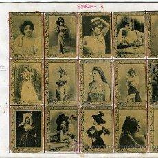 Coleccionismo Álbum: ANTIGUAS FOTOTIPIAS CAJAS DE CERILLAS.- 75 CROMOS-COLECCIÓN COMPLETA SERIE 3.- ESTÁN PEGADOS EN 5... Lote 28154263