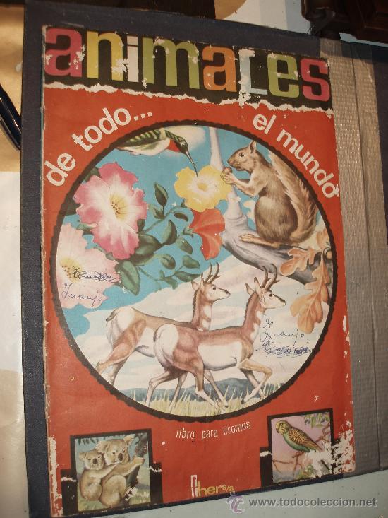 ALBUM ANIMALES DE TODO EL MUNDO FHER CASI COMPLETO (Coleccionismo - Cromos y Álbumes - Álbumes Completos)